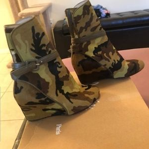 Christian Louboutin Pony Hair Camouflage Boots